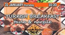 Turkish Breakfast Tavla and Nargile